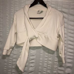Anthro Saturday Sunday Cropped Cream Cardigan